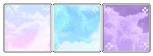Pastel clouds divider f2u by V-ibes