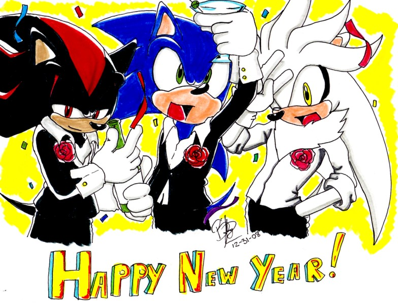 Sonic-HAPPY NEW YEAR 2009 by NinjaHaku21 on DeviantArt