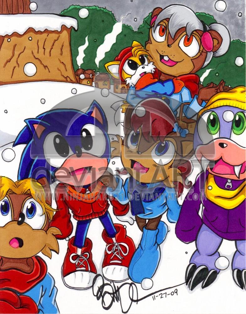 STH Kids- Snowtime in Knothole by NinjaHaku21