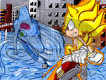 Super Sonic Vs. Chaos