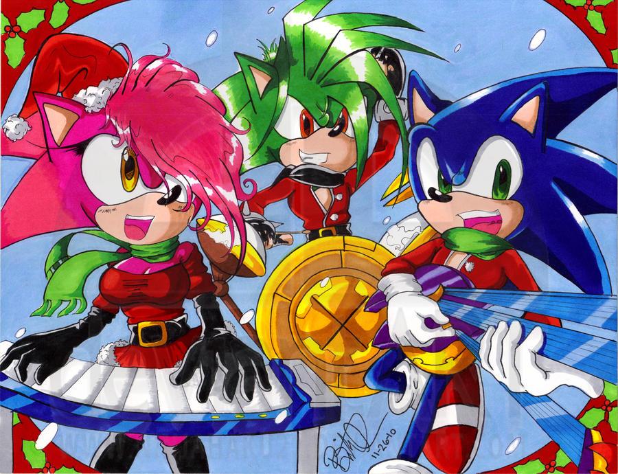Sonic Underground Christmas by NinjaHaku21