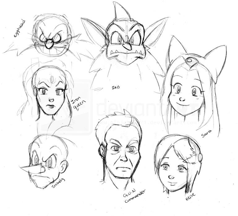 sth human face sketches by ninjahaku21 on deviantart
