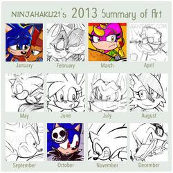 NinjaHaku21 2013 Summary of Art Meme
