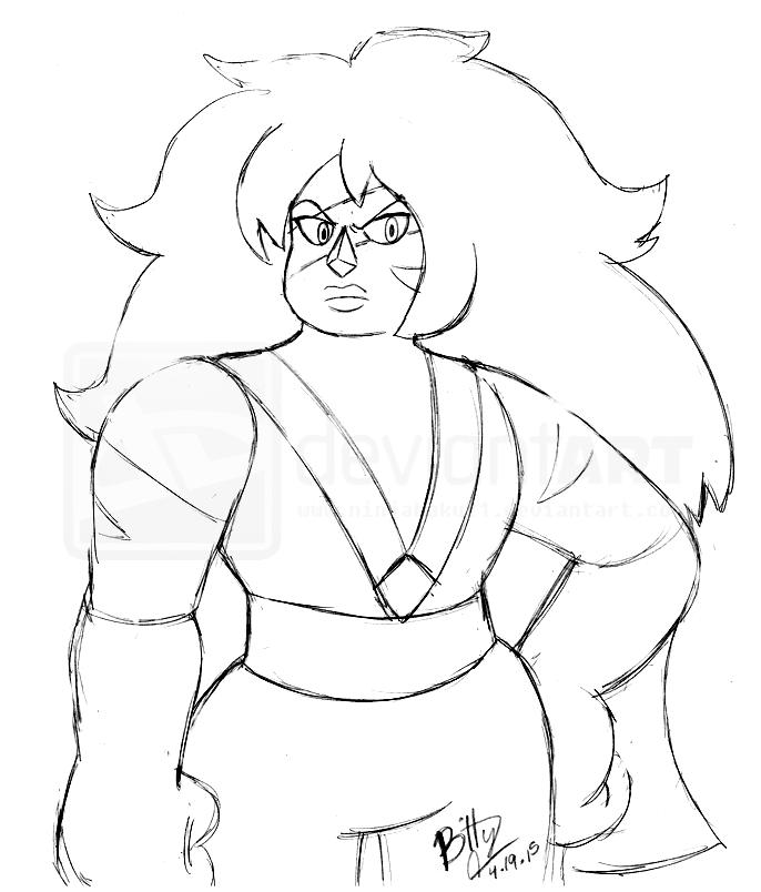 Steven Universe- Jasper Sketch by NinjaHaku21 on DeviantArt