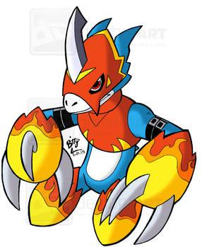 Digimon-Flamedramon