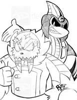 STH-Tundra and Akhlut by NinjaHaku21