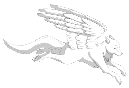 Winged Wolf Base [Free to use!]