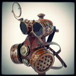 Steampunk goggles and mask