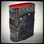 The Black Traveler Leather Journal, 5 x 4 inches