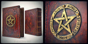 Large Leather bound Book of Shadows... by alexlibris999