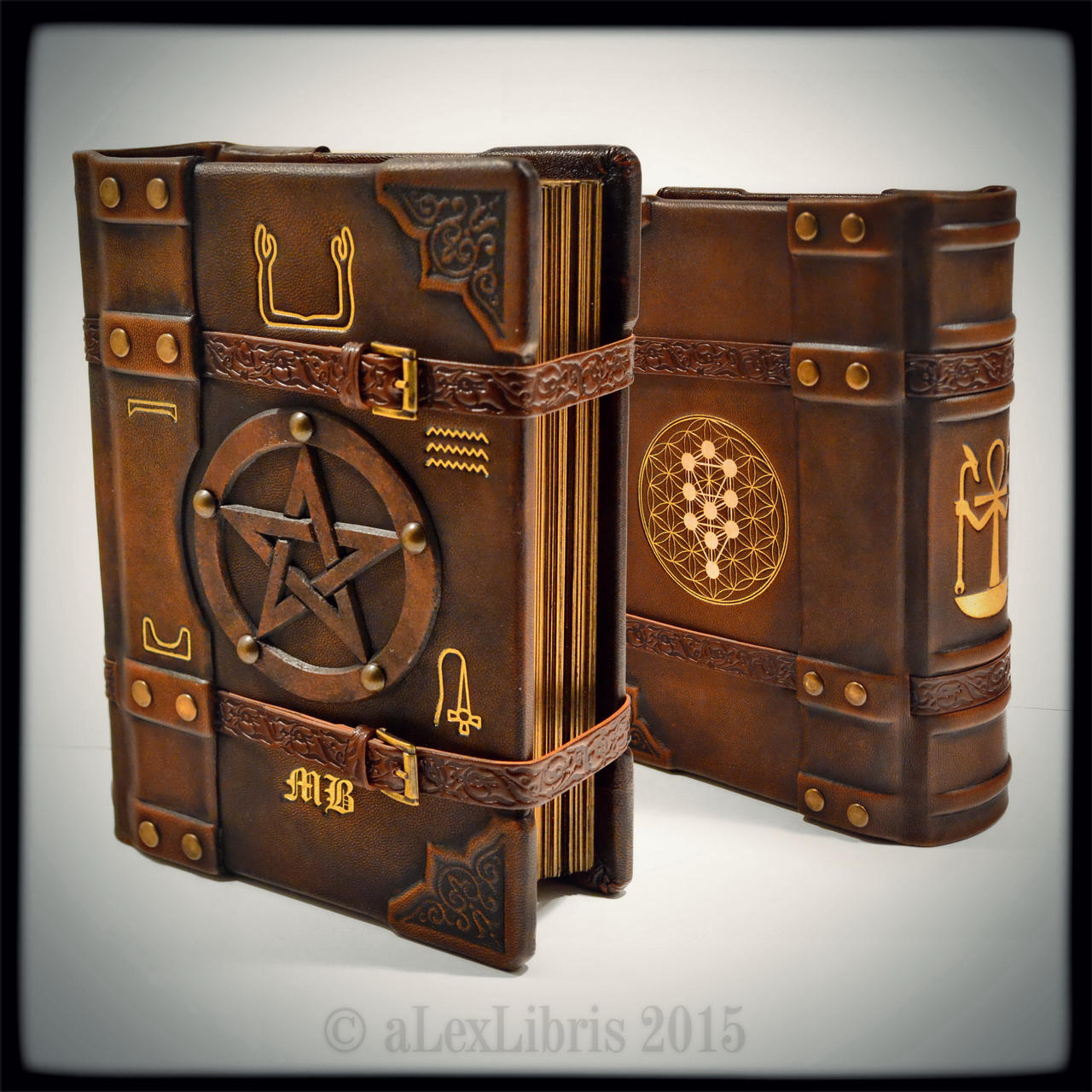 Handmade Story Book Cover ~ Ankh journal in by alexlibris on deviantart