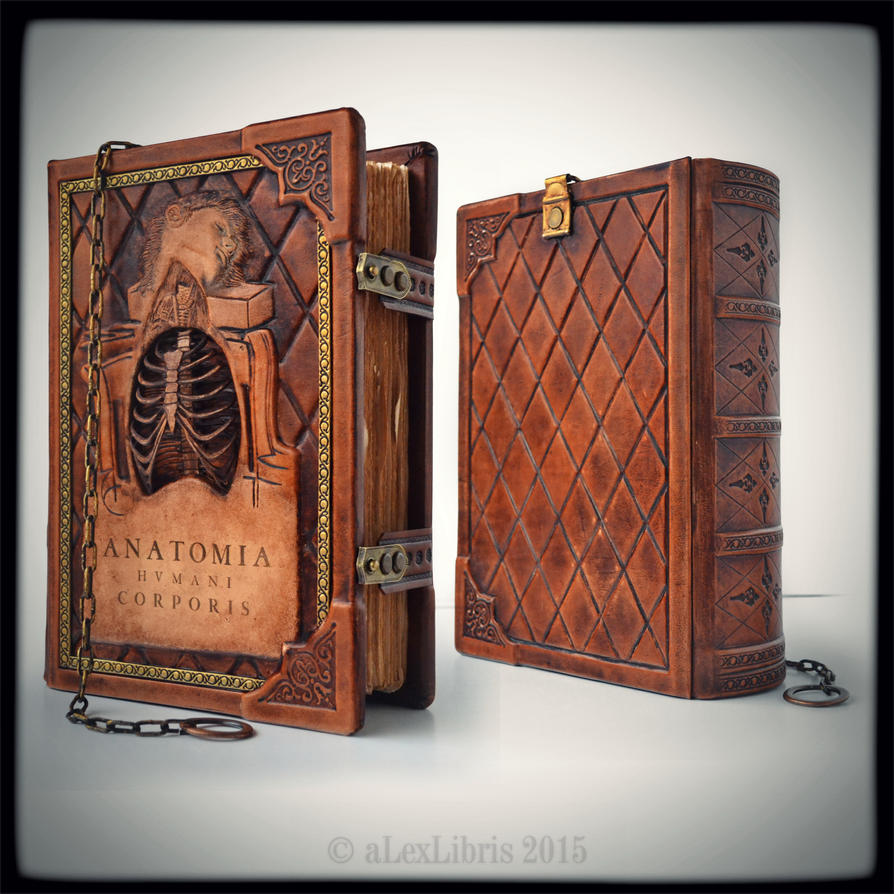 Large leather journal in Anatomy thematic... by alexlibris999 on ...