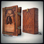 Large leather journal in Anatomy thematic...