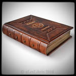 Medieval styled Grimoire book...