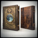 Full Moon 11 x 14 inches large leather journal..