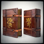 Lions roar - 8 x 10 inches large leather journal