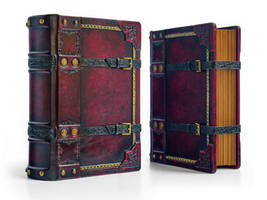 Crimson leather journal