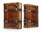 Medieval styled large leather journal...