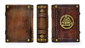 Valknut leather journal