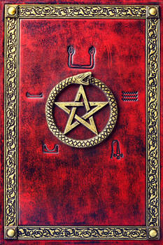 Red leather journal...