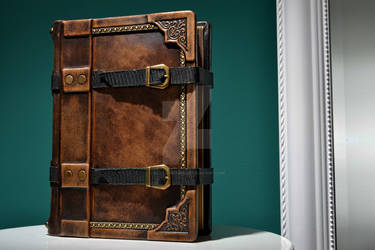 medieval journal with straps