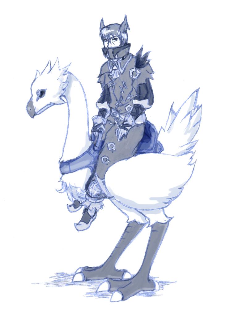 T: Chocobo Rider by Ankoku-Sensei