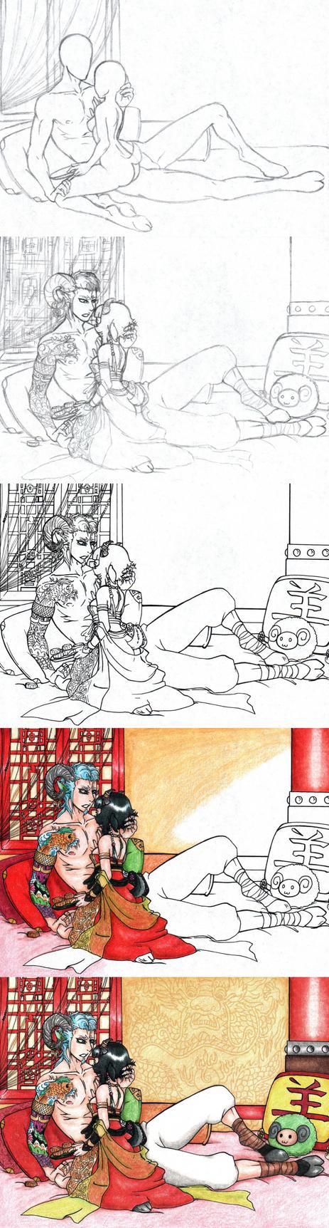 GrimmSoi Chinese New Year-Process by Ankoku-Sensei