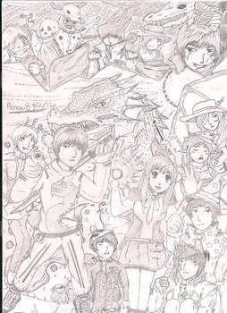 My characters in my manga!