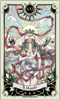 Tarot card 21- the world
