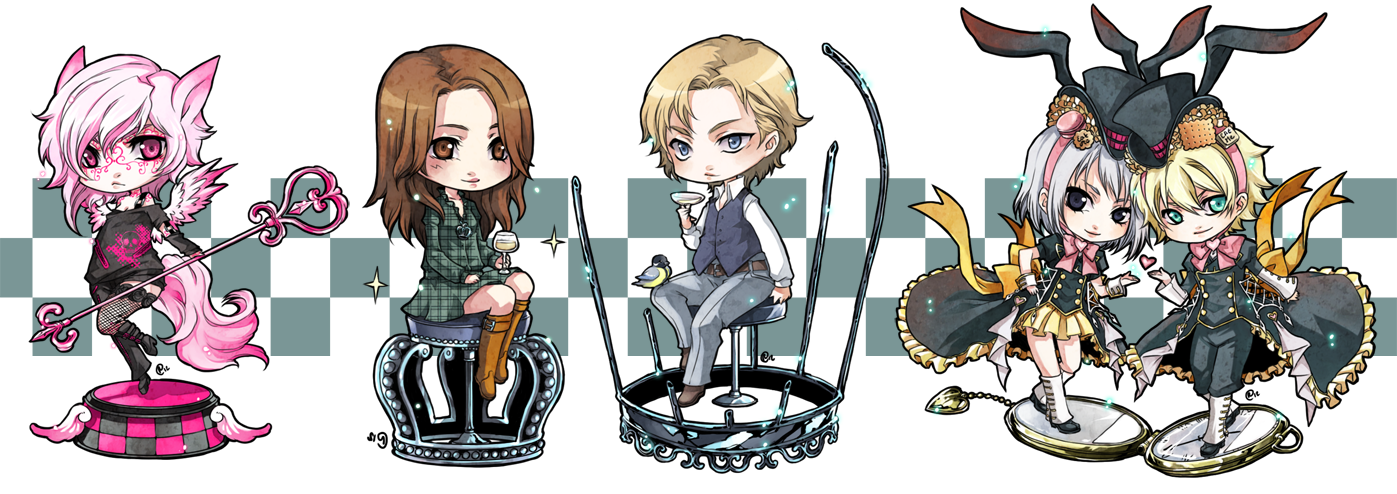 ::chibi comm set 6:: by rann-poisoncage