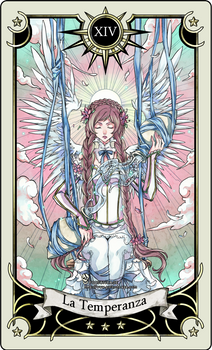 Tarot card 14- the Temperance by rann-poisoncage
