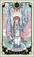 Tarot card 14- the Temperance