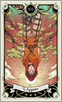 Tarot card 12- The hanged man by rann-poisoncage