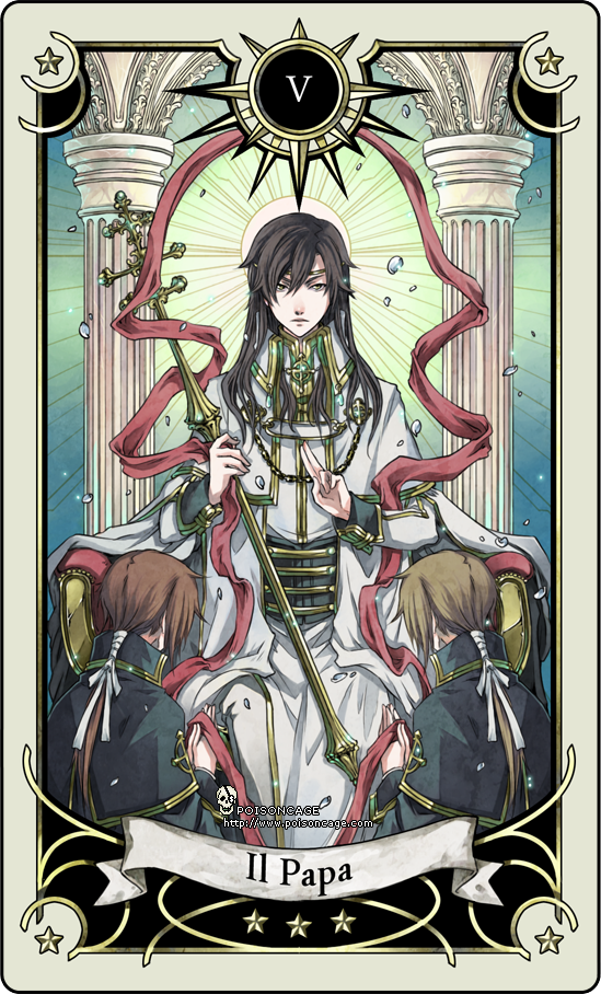 Tarot card 5- the hierophant by rann-poisoncage