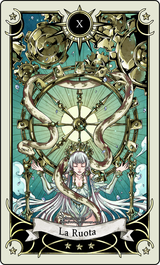 Tarot Card 10- The Wheel Of Fortune By Rann-poisoncage On