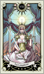 Tarot card 8- the Justice by rann-poisoncage