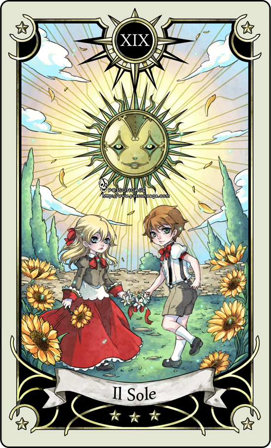 Tarot card 19- the sun by rann-poisoncage
