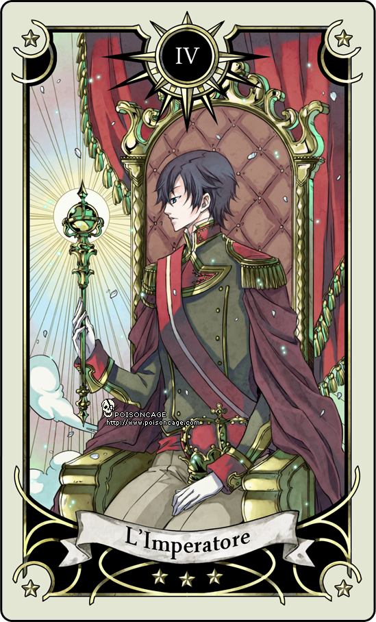 Tarot card 4 - the Emperor by rann-poisoncage
