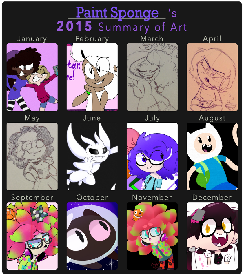 my art summary of 2015 by PaintBounce