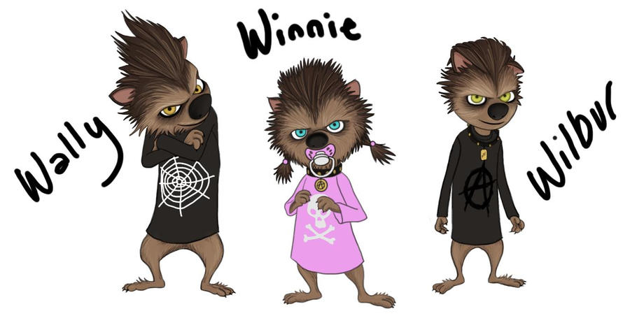 Wally Winnie And Wilbur By Pistol Paintbrush493