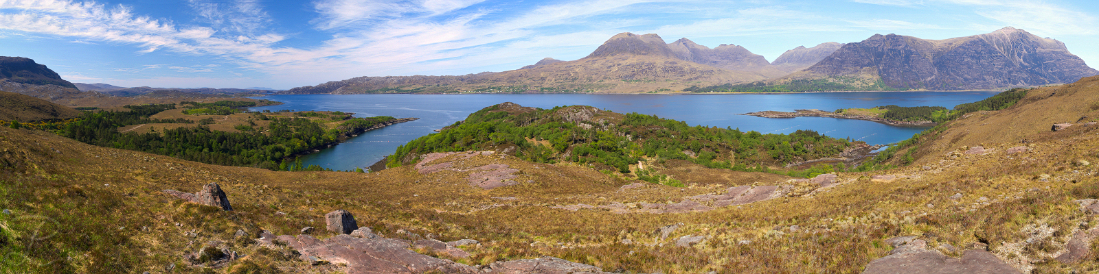Upper Loch Torridon Panorama by da-phil