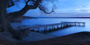 Dusk at the Lake by da-phil