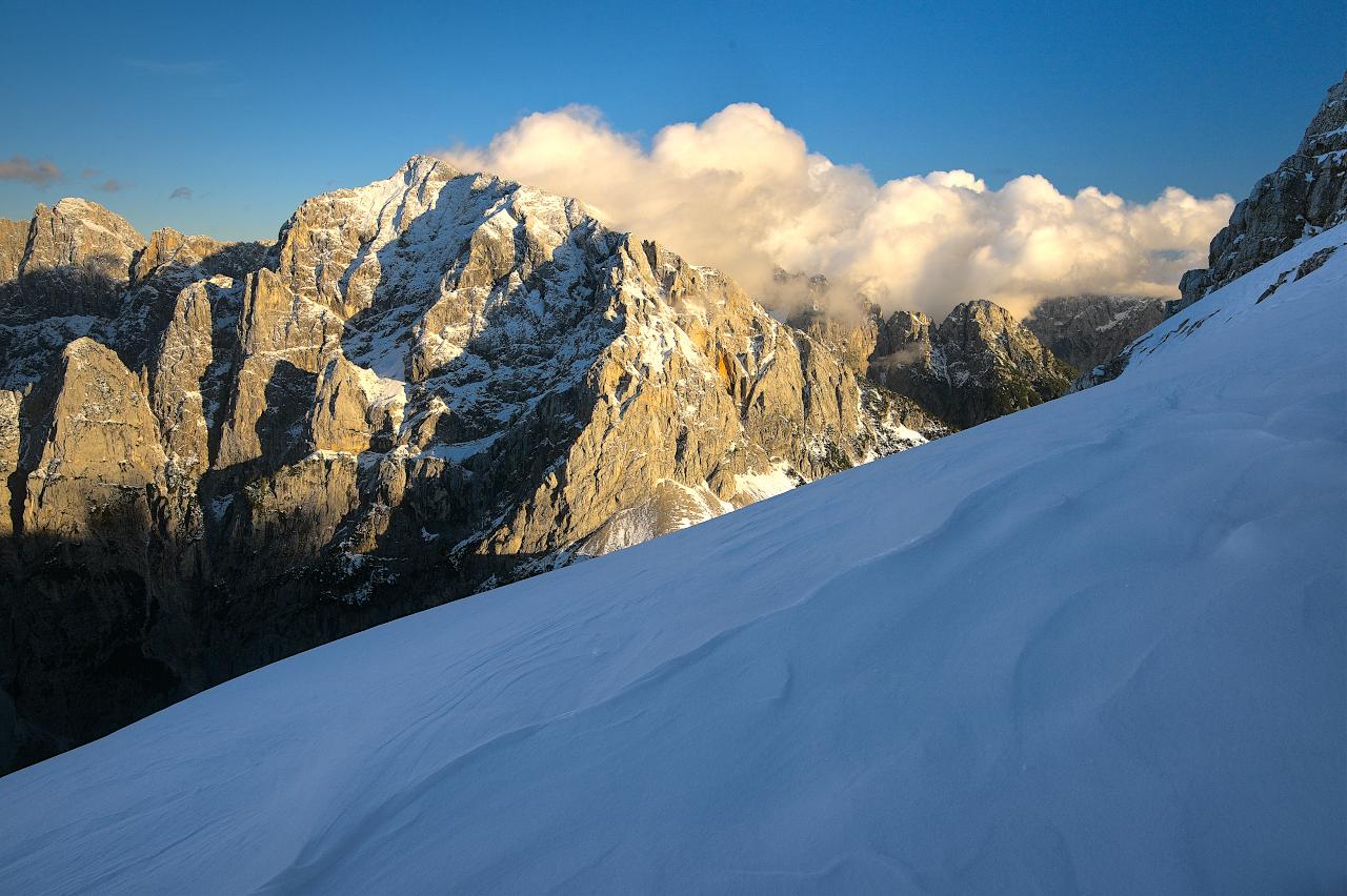 Snowy Ascent