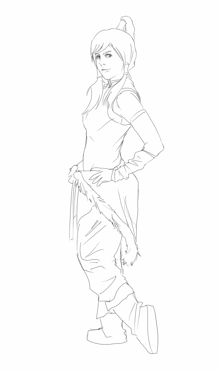 Zero Outline Korra Outline b...