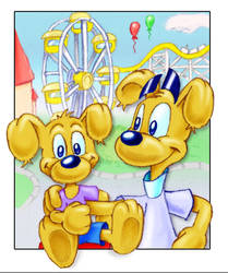 Schade and Tomy at the park by Schade88