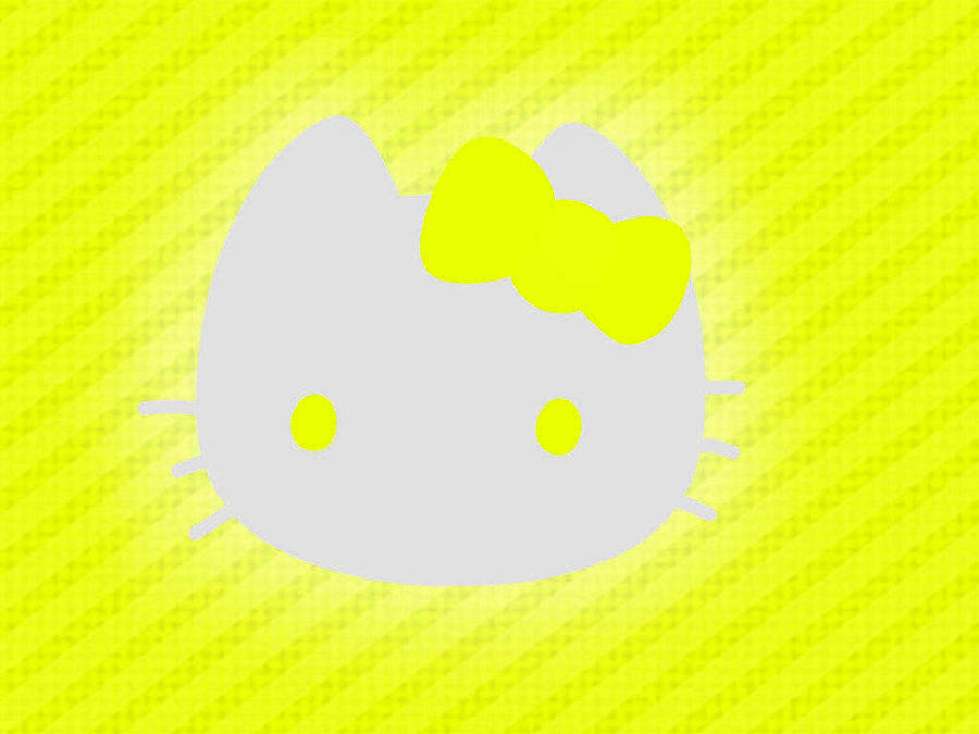 Hello Kitty Yellow Background Traffic Club