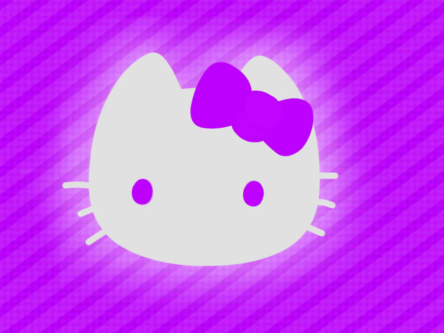 Hello Kitty Wallpaper Purple By Vectorfrosting On Deviantart