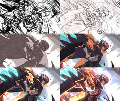 Ouroboros Zet CG (STEP BY STEP) by Hananon