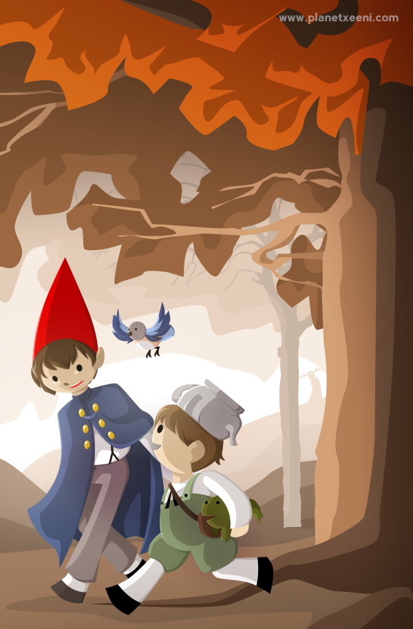 over the garden wall poster by selanpike - Over The Garden Wall Poster