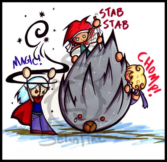 Poor, poor Lavos by SelanPike